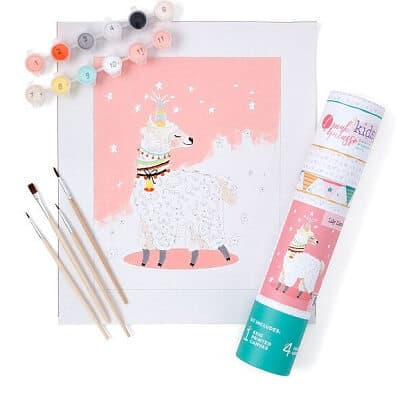 Llama Paint-by-Numbers Kit for Kids