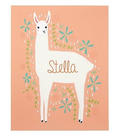 Llama Personalized Art Print