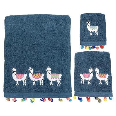 Llamas 3 Piece 100% Cotton Towel Set