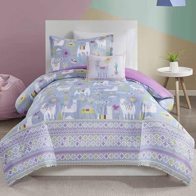 Printed Llama Comforter Set