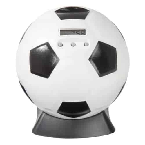 Digital Piggy Bank Shaped Like a Soccer Ball