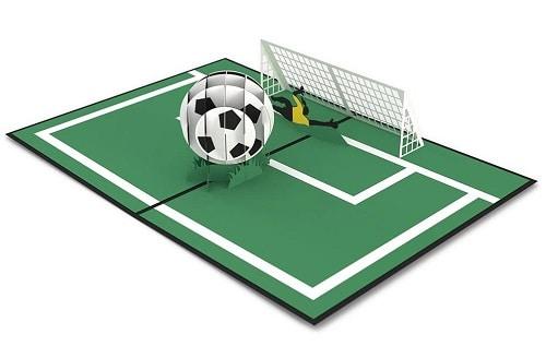 Soccer Gal 3D card