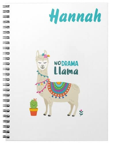 Stay Cool Llama Personalized Notebook
