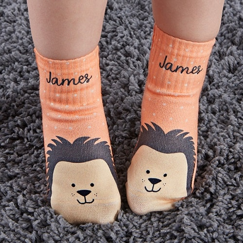 Hedgehog Personalized Socks for Toddlers