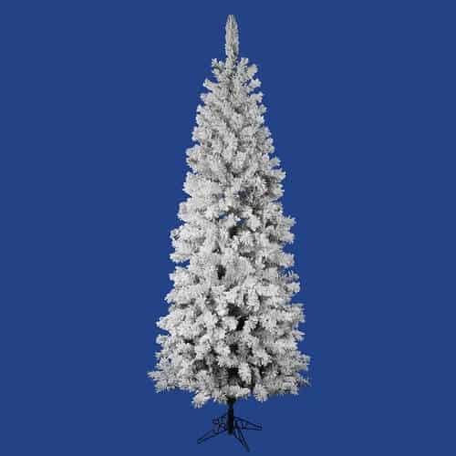 7.5 Ft. Flocked Pencil Christmas Tree Unlit