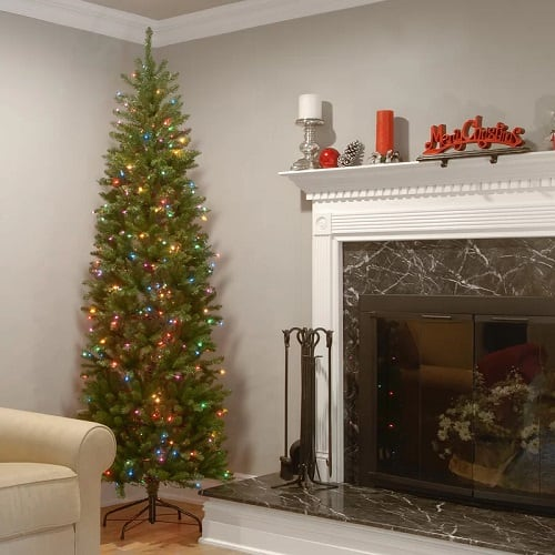 7.5 ft. Green Christmas Tree with 350 Multi-Color Lights