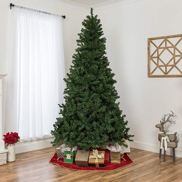 7.5ft Premium Spruce Hinged Artificial Christmas Tree with Foldable Stand