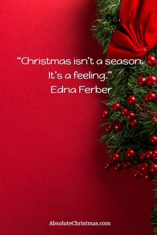 Christmas Quote Edna Ferber