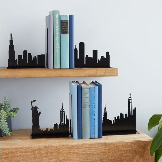 City Skyline Bookends - New York Themed Gifts