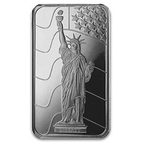Lady Liberty 10-Gram Silver Bullion Ingot