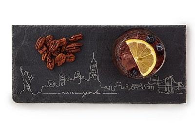 New York Skyline Slate Cheese Board