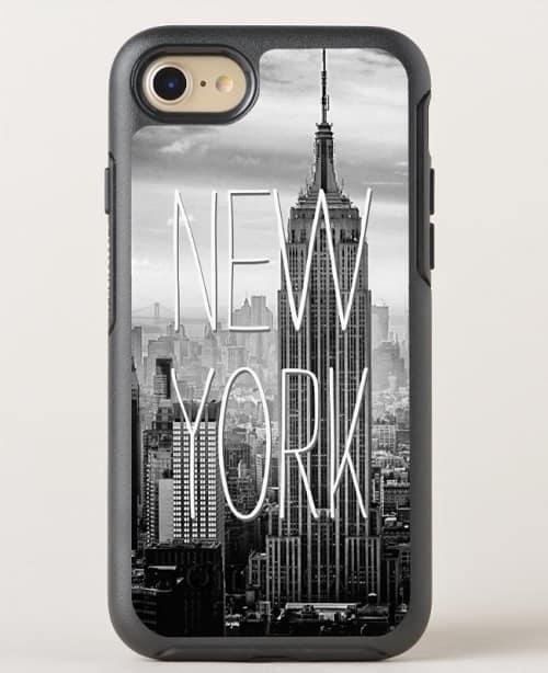 Retro Black White New York Skyscraper OtterBox Phone Case
