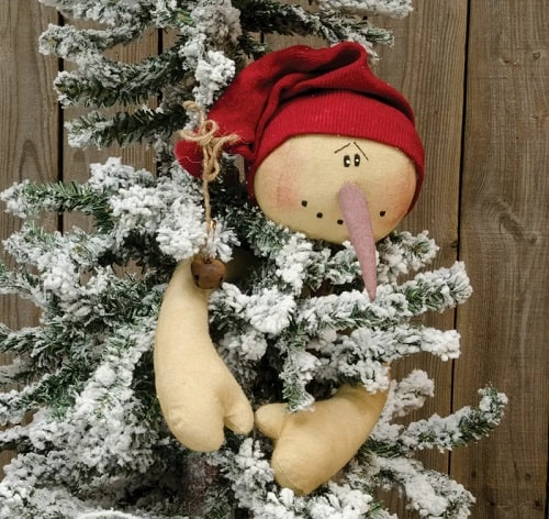 Snowman Ski Hat Tree Hugger Topper