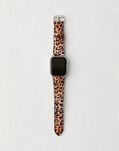 Wildflower Leopard Apple Watch Strap