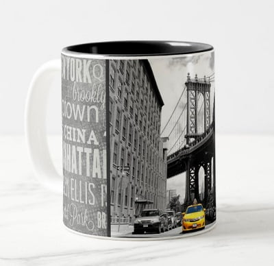 Yellow Taxi Cab New York City Coffee Mug