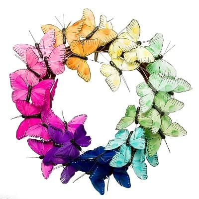 14 inch Butterfly Wreath