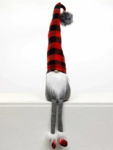 Buffalo Plaid Gnome Shelf Sitter