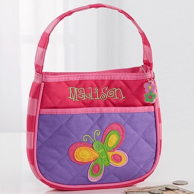 Butterfly Embroidered Purse - Butterfly Gifts for Girls