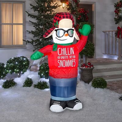 Chillin' With My Snowmies Inflatable