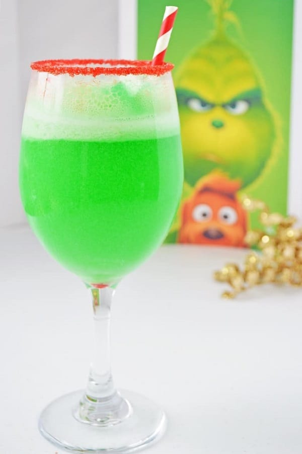 Christmas Grinch Punch - Non Alcholic Christmas Drinks