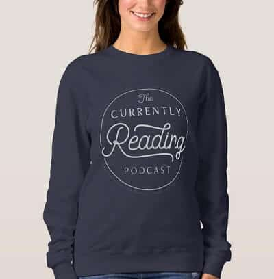 Cozy Currently Reading Navy Sweatshirt