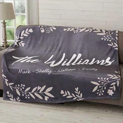 Cozy Home Personalized 50x60 Plush Fleece Blanket