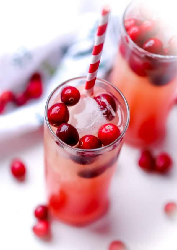 Cranberry Orange Mixed Drink - Holiday Mocktail