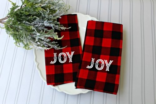 DIY Buffalo Check Cloth Bandana Napkins