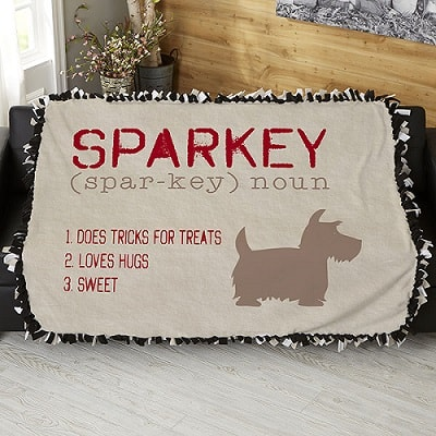 Definition Of My Dog Personalized 50x60 Tie Blanket