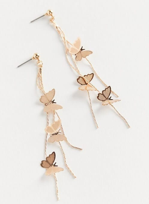 Fly Away Butterfly Drop Earring