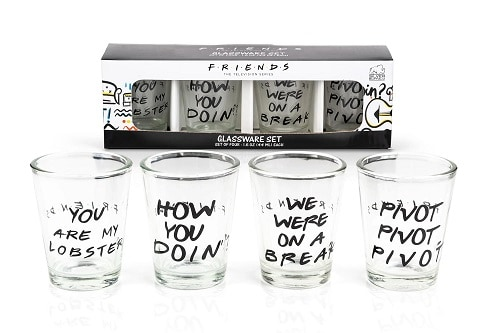 Friends Quotes Shot Glasses - Set of 4