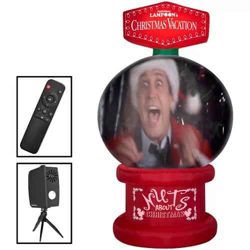Living Projection Christmas Vacation Snow Globe Inflatable