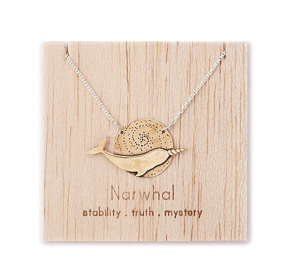 Narwhal Spirit Animal Necklace - Narwhal themed gifts