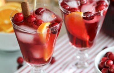 Non-Alcoholic Sangria for Christmas