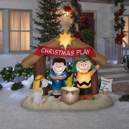 Peanuts Nativity Scene Inflatable