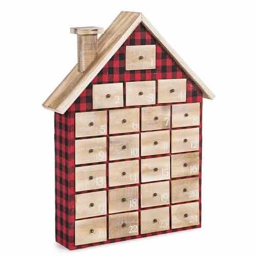 Plaid House Christmas Advent Calendar