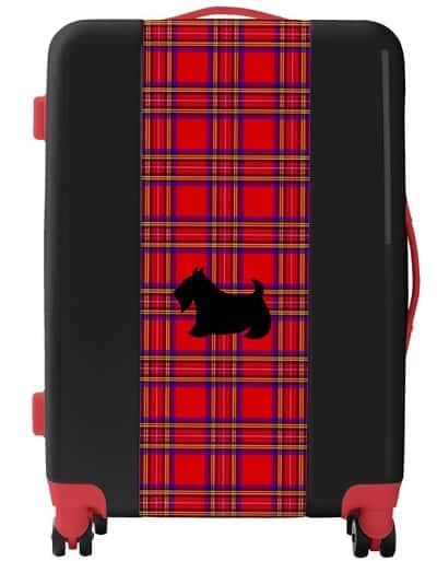 Plaid Scottish Terrier Scotty Dog Suitcase Luggage