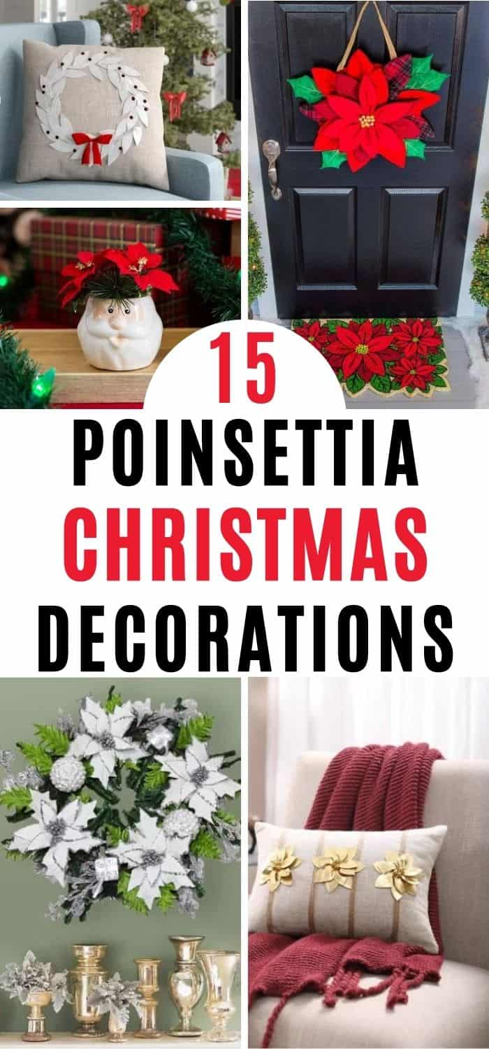 Poinsettia Christmas Decorations