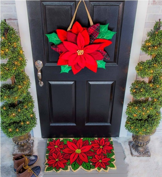 Poinsettia Door Decor