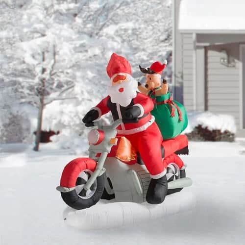 Santa Motorcycle Inflatable