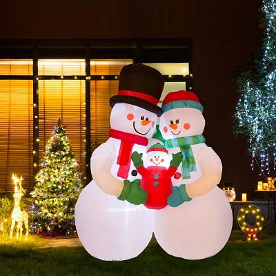 Snowmen Family Inflatable