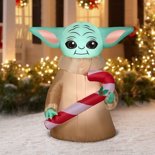 Star Wars The Child with Candy Cane Blow Up