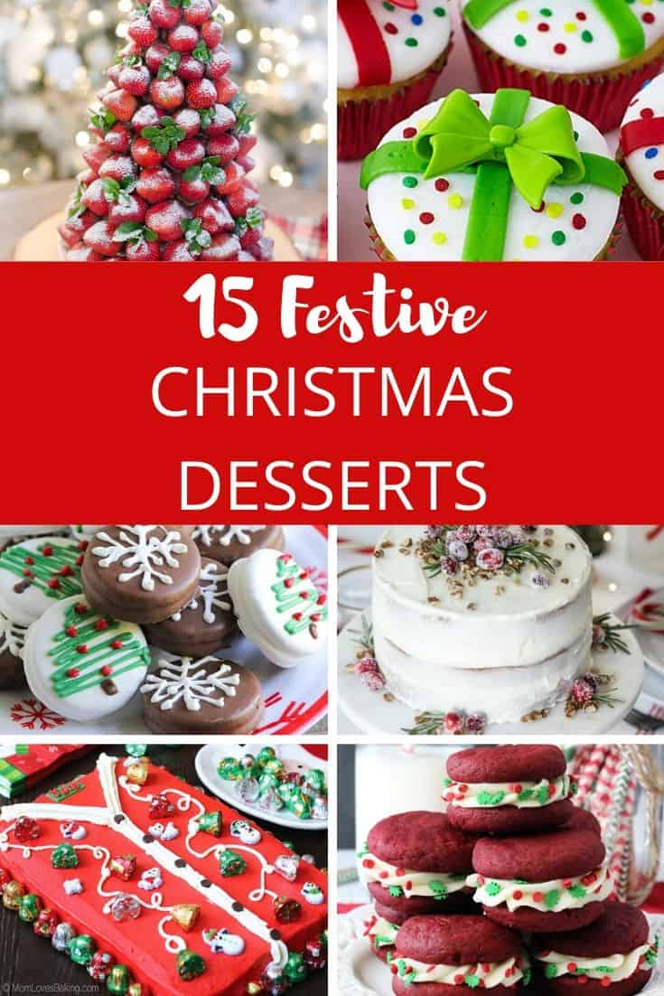 Festive Christmas Desserts - The Best Recipes and Christmas Treats to Try this Year! Try these festive, cute and easy Christmas dessert recipes at your Christmas party for your kids, friends, and family! Cupcakes, cakes, sweet bites, pies, brownies, Christmas cookies and other delights. #christmas #dessertfoodrecipes #xmas #recipes #food #christmasfood