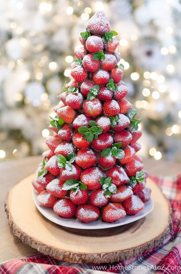 Chocolate Covered Strawberry Christmas Tree