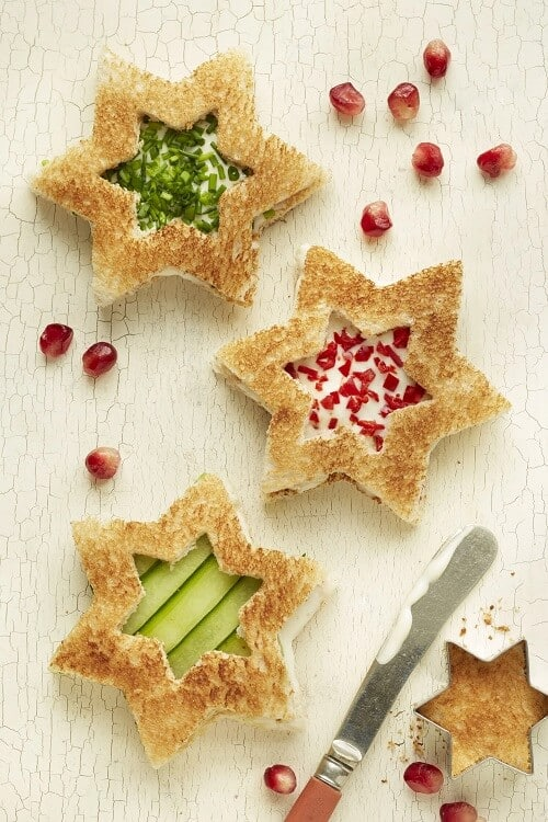 Christmas Star Sandwiches - Christmas Appetizers