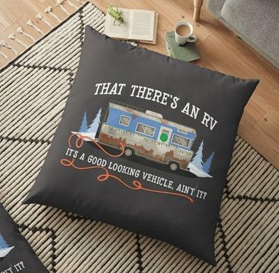 Christmas Vacation - Eddie's RV Floor Pillow