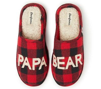 Dearfoams Papa Bear Clog Slippers