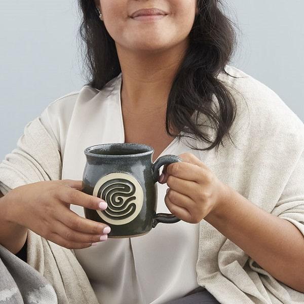 Finger Tracing Meditation Mug