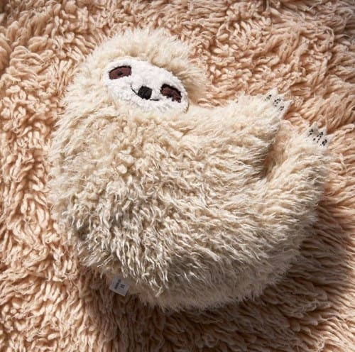 Furry Sloth Pillow