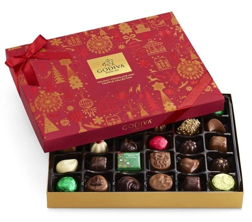 Godiva Assorted Chocolate Holiday Gift Box - Christmas Gifts For Mom